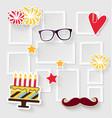 Birthday photo frame vector image