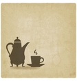 coffee ceremony old background vector image