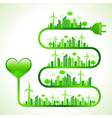 ecology concept with heart icon- vector image