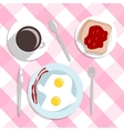 flat design style breakfast concept background vector image