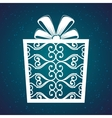 gift merry christmas and new year design isolated vector image