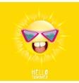 Hello Summer summer smiling sun vector image