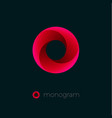 o logo red vortex dynamic swirl vector image