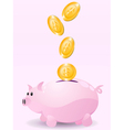 piggy bank with money vector image