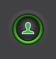 profile glossy circle dark button vector image