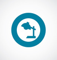 reading-lamp icon bold blue circle border vector image