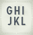 Retro Font from G to L Vintage Typography vector image