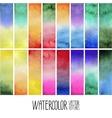 Watercolor gradient rectangles vector image