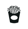 potato fries simple black icon on white background vector image