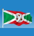 flag of burundi vector image