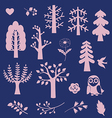 Wood fantasy elements vector image