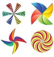 wind mills collection vector image