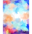 Abstract grunge triangle vector image