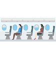 Airplane Transport Interior Retro Travel vector image
