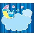 card with cartoon owl vector image