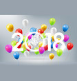 happy new year 2018 celebration colorful balloon vector image