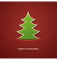modern christmas tree background vector image