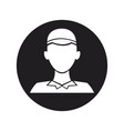 plumber silhouette character occupation repair vector image