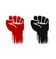 raised fist grunge force strength power symbol vector image