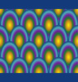 scale pattern in rainbow colors vector image