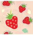 strawberry floral vector image