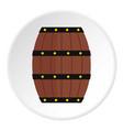 wine wooden barrel icon circle vector image