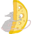 with the image of a gray rat vector image