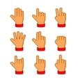 Hands Icons Set on White Background Emoji vector image
