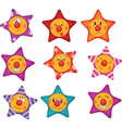 Cheerful small asterisks cartoon vector image vector image