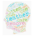 Keep Your Leather Items As Good As New text vector image