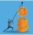 man financial business money gold work vector image