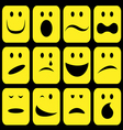 emotions set vector image vector image