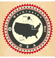 Vintage label-sticker cards of United States of Am vector image