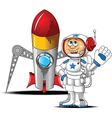 Astronaut with rocket vector image
