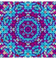 Abstract Colorful Digital Decorative Flower vector image vector image