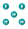 Men and women couples symbols Simple icons with vector image