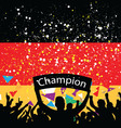crowd cheer germany vector image
