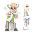 Scientist Holding a Beaker and Test Tube vector image