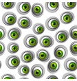 abstract green eye seamless pattern vector image