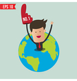 Business man show number one - - EPS10 vector image