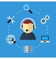 Computer and Technical Support Icon vector image