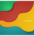 Curve lines shadow overlap 3D dimension vector image