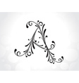 decorative letter vector image