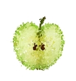 half green apple of blots isolated vector image