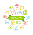 Relaxation rest time color round design template vector image
