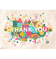 Thank you quote poster design background vector image