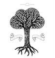 Tree crown in the shape of cloud vector image