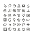 Web line icon set Thin icons isolated on white vector image