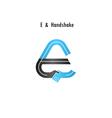 E- letter icon abstract logo design vector image