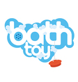 Bath toy package design element vector image